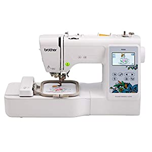 "Brother PE535 Embroidery Machine, 80 Built-in Designs, 4"" x 4"" Hoop Area, Large 3.2"" LCD Touchscreen, USB Port, 9 Font Styles"