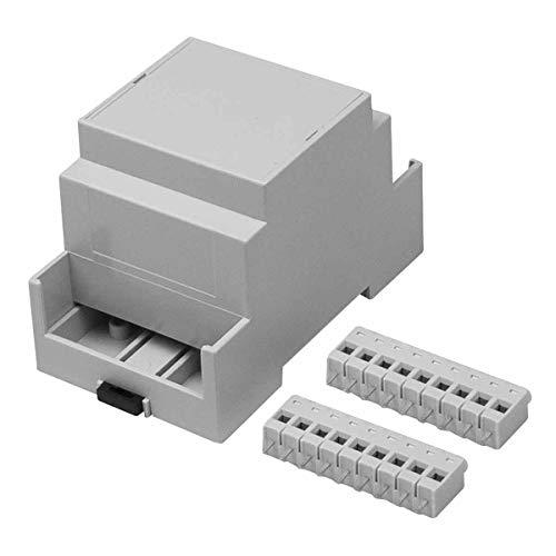 RS PRO Elektronikgehäuse, 53.4 x 90 x 58mm, Gehäusesockel, Hellgrau, Verlängerte Seiten für Wände