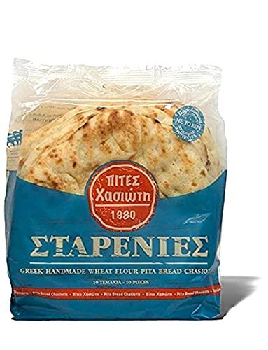 Greek Pita Bread, for Greek Souvlaki, 20 portions, 2 Packs of 10 Pcs, 1620gr/28.9oz