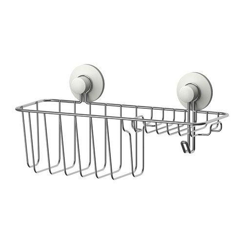 Ikea immeln - Dusche/Seifenkorb mit Haken, verzinkt - 30x15 cm