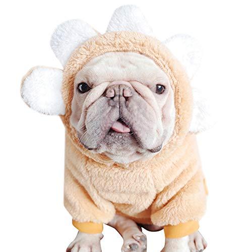 Icegrape huisdier hond kleding hond bloem trui schattig mooie zonnebloem kleding fleece trui winter pyjama
