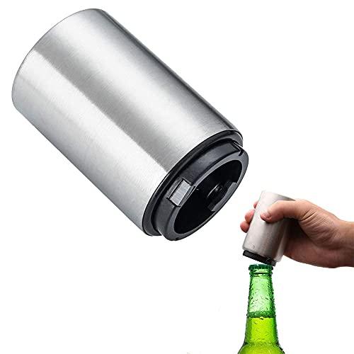 Apribottiglie Acciaio Inox, Magnete Apribottiglie, Apribottiglie Automatico, Può Aprire Bottiglia Birra In Mezzo Secondo, per Cucina, Bar, Feste, Picnic, Argento