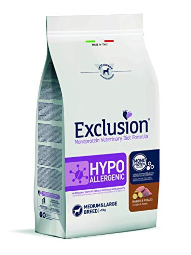 Exclusion - Diet Hypoallergenic Adult Medium Large al Coniglio e Patate da 12 kg