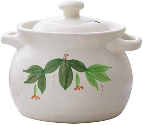 HYYDP Cacerolas Placas de cazuela con Tapa de Cocina de cerámica de cerámica - Cazuela Holandesa del Horno con Mango Grande y Tapa