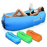 Sofá Hinchable para Interiores y Exteriores, Portátil Impermeable Sofa Cama Hinchable,Almohada...