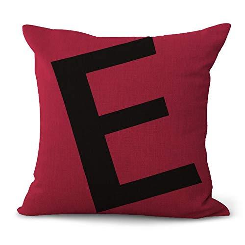 N/V ZM1001 Funda de almohada de lino decorativo para el hogar Funda de almohada de coche Sofá