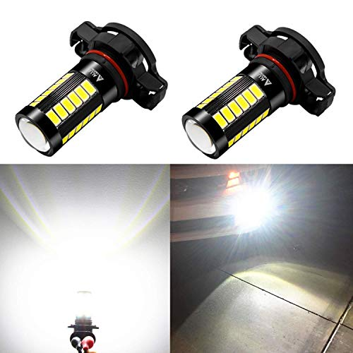 TUINCYN 9006 HB4 LED Fog Light Bulb Xenon White 6000K 3014 Chipsets 144SMD Super Bright DRL Daytime Running Light Driving Lamp DC 12V-24V Pack of 2
