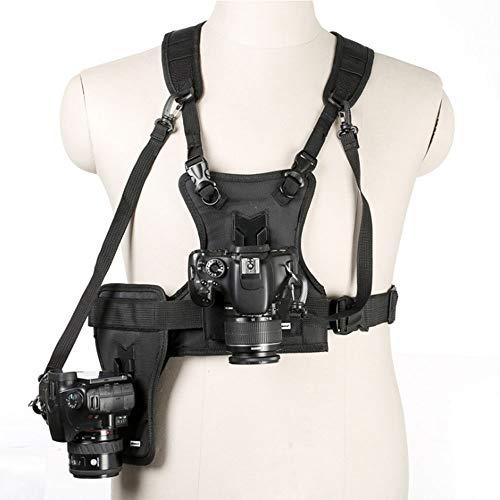 Dual-SLR Kamerastativ Bügel-Weste, Schnellspanner, Mit Montagebügel, Seitenhülsen Und Ersatzband Für Canon 6D 5D2 5D3 Nikon D800 D810 Sony A7S A7R A7S2.
