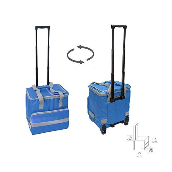 413Rc1gnveL. SS600  - PAPILLON 5080126 Nevera Bolsa Termica 38 litros Azul Trolley