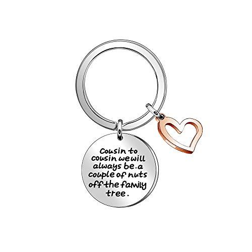 Cousin Keyring Keychain Rings for Women Men Key Chain Family Keyring...