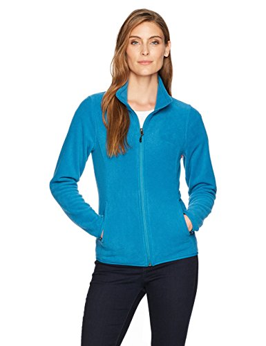 Amazon Essentials Women's Relaxed-Fit Long-Sleeve Full-Zip Polar Soft Fleece Jacket, Teal Seaport, Medium