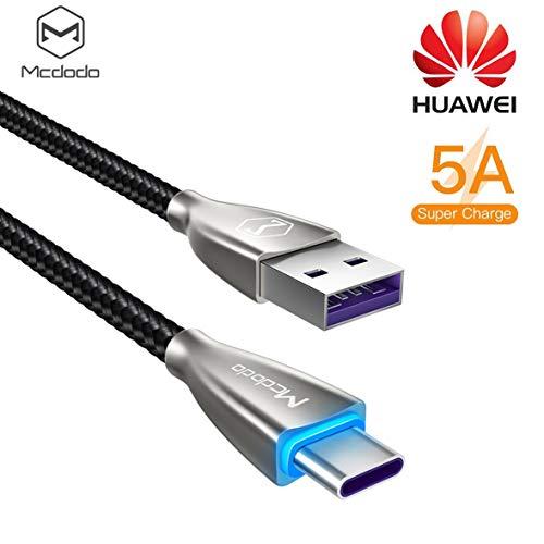 AICase 5A Cable USB C Carga Rápida Cargador USB Tipo C para Huawei P20 Mate 9, MacBook, iPad Pro 2018, Galaxy S9/S8 y más (2M)