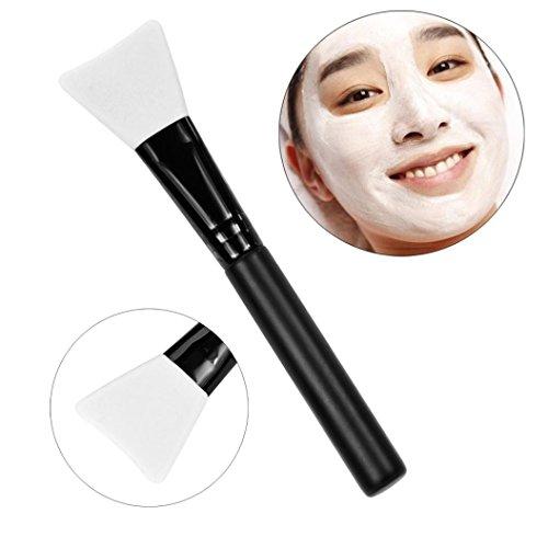 Brosse Mask,OVERMAL PoignéE En Bois Visage Facial Masque De Boue MéLange De Brosse CosméTiques Kit De Maquillage (Blanc)