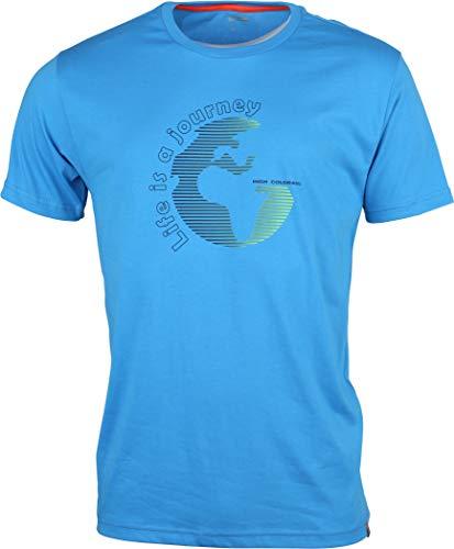 High Colorado Garda 4 Brilliant Blue 2019 T-shirt à manches courtes pour homme, Bleu brillant, L