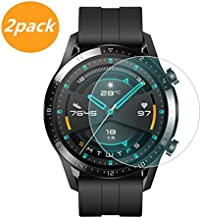 [2-Pack] for Huawei Watch GT2 46mm Screen Protector, Explosion-Proof Anti Scratch Resistance Full Cover Clear Screen Prote...