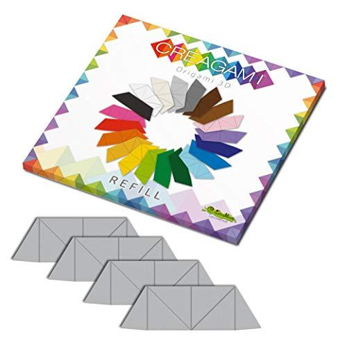 CreativaMente - Tarjetas precortadas y con guías de Plegado para Hacer Origami 3D, Color Gris, 854