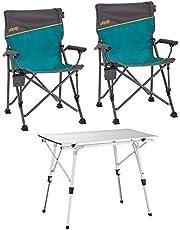 Uquip Bloody Campingmeubelset 3 Stuks. - Campingset met Klaptafel + 2X Campingstoel