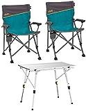 Uquip, Bloody – Set Tavolo e sedie da Campeggio Composto da 1 Tavolo in Alluminio Pieghevole...