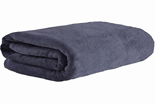 MYLSMPLE Microfiber Luxury Grey Bath Towel Extra Large Bath Sheet Beach Towel (36 Inch X 72 Inch, Grey)