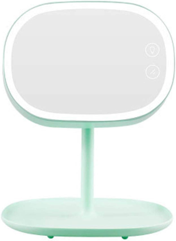 Dingmart-Makeup-Spiegellampe Wiederaufladbare LED-Schreibtischlampe Korea tragbarer Speicher-Kosmetikspiegel