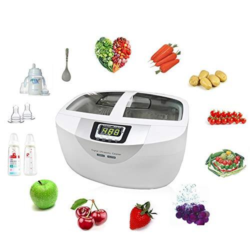 2.5L Digitaler Ultraschallreiniger, Tragbare Waschmaschine, Obst-Gemüsewaschanlage, Ultraschallreinigungsmaschine mit Timer, Gemüsewaschmaschine (60W)