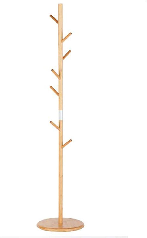 JIAYING Coat Racks Coat Rack, Floor-Standing Simple Inssizetion Bedroom Living Room Foyer Hanger Hook-Type Bamboo Coat Rack 360° 7 Hook All-Round Multi-Level Hook Multifunction