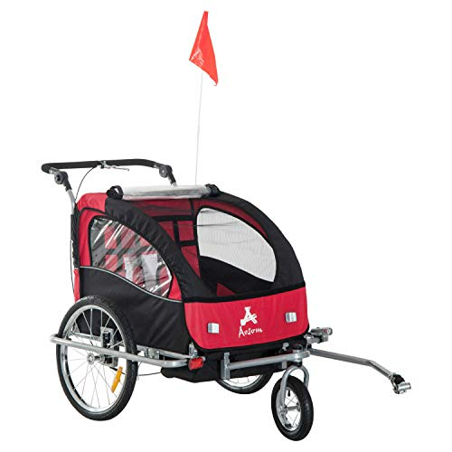 Why Should You Buy Twin Child Baby Kid Double Seat Trailer Bike Stroller Bicycle Jogger Swivel Wheel...