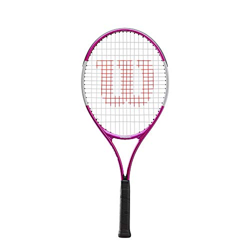 """Wilson Ultra Pink 25, WR027810U Racchetta da Tennis, Tennisti Junior di 9-10 Anni, Lega AirLite, Rosa/Bianco, 25"""""""