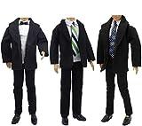ZITA ELEMENT 3 Set Mode Beiläufig Kleidung für Fashionistas 11,5 inch Girl doll Freund 11,5 inch doll Boy Friend Puppen Kleider Mann Junge Puppenkleidung Bekleidung Oberteil Hosen -