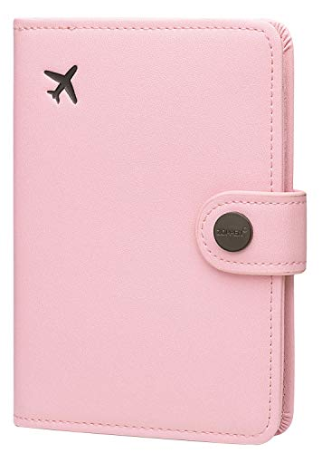 Zoppen Passport Holder Cover Wallet for Women Rfid Blocking Travel Wallet Id Card Case (#9 Pink)