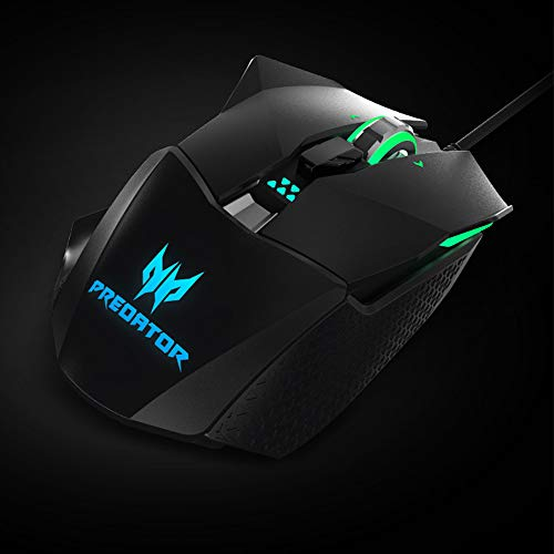 Acer Predator Cestus 510 RGB Gaming Mouse – Dual Omron Switches, Customizable, Macro Keys, On Board Memory and…