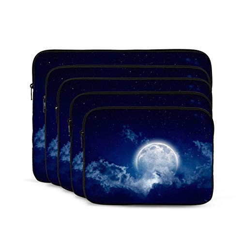 Moon Among Cloud Laptop Sleeve 13 inch, Shock Resistant Notebook Briefcase, Computer Protective Bag, Tablet Carrying Case for MacBook Pro/MacBook Air/Asus/Dell/Lenovo/Hp/Samsung/Sony