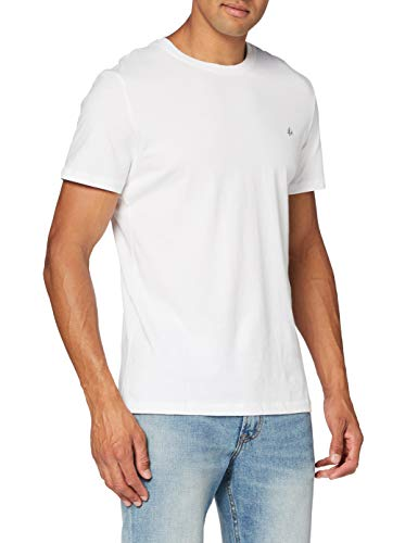 Jack & Jones Jorbasic SS tee Crew Neck 3-Pack Logo Ka Camiseta, Azul (White Detail: Reg Fit/Packed with TEM + Dgm), Large (Pack de 3) para Hombre