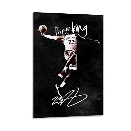TINGTAI Hangtime Lebron James Basketball-Poster, klassischer Basketball-Kunstdruck, Poster, dekoratives Gemälde, Leinwand, Wandkunst, Wohnzimmer, Poster, Schlafzimmer, Gemälde, 40 x 60 cm