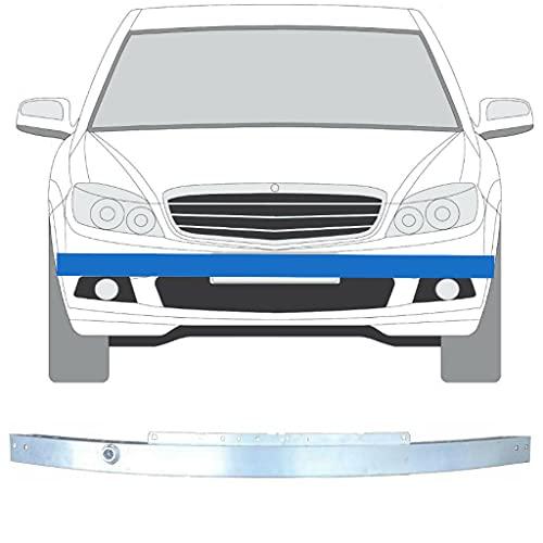 Barra de bloqueo para parachoques delantero para Mercedes Clase C / 2007-2014 / W204 / Saloon + Estate/Hq pieza interior de aluminio sin pintar. Fija el óxido en tu coche