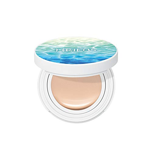 Lirikos Water Fit Cover Pact SPF50+/PA+++ - Longlasting Cover Foundation Cushion 10g+10g (23 - Warm Beige)