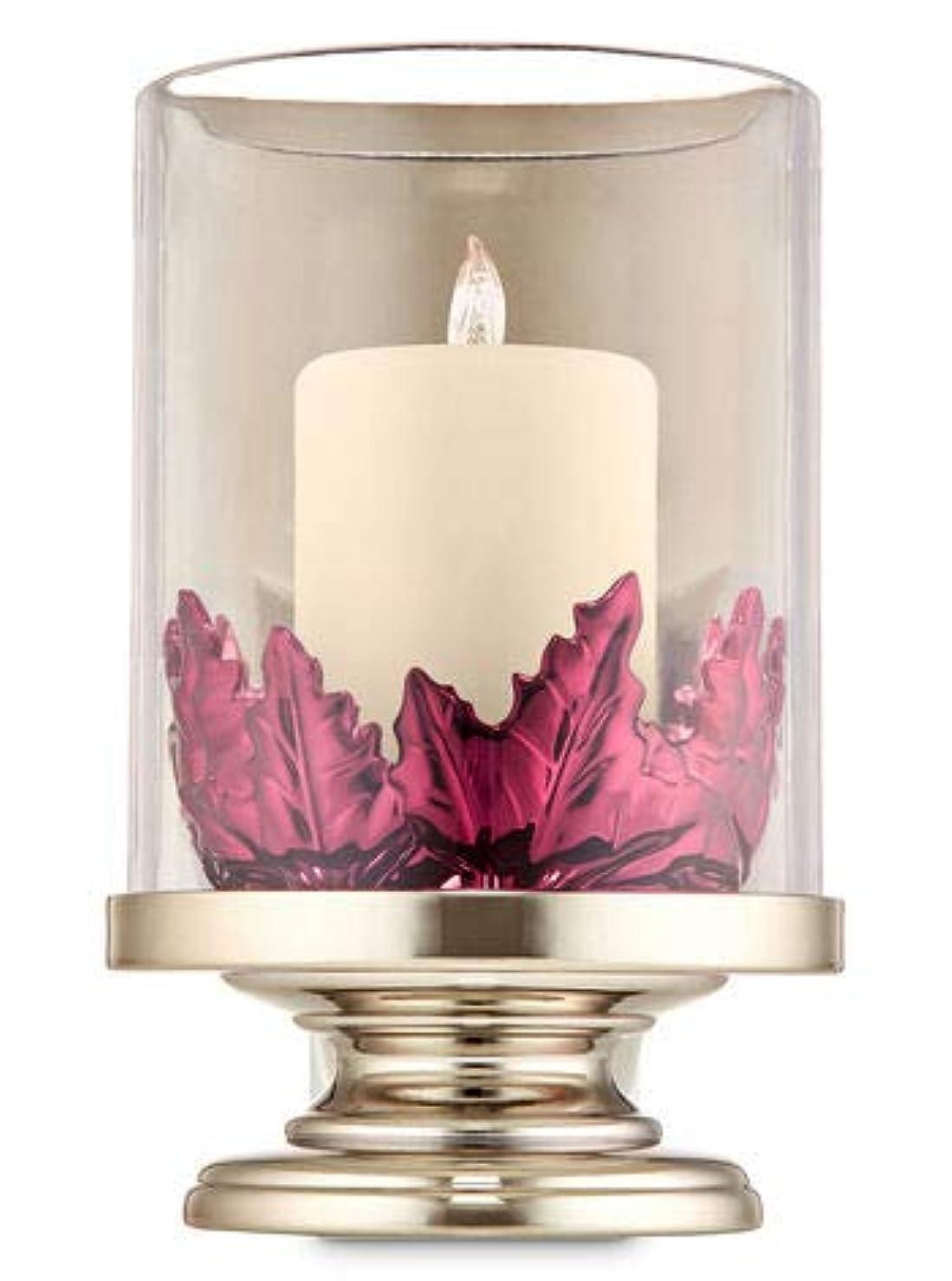 入り口メンタージョリー【Bath&Body Works/バス&ボディワークス】 ルームフレグランス プラグインスターター (本体のみ) ピラーキャンドル with リーブス ナイトライト Wallflowers Fragrance Plug Pillar Candle with Leaves Night Light [並行輸入品]