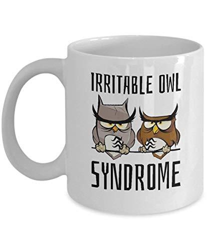 Mesllings Irritable Owl Syndrome Coffe Mug for grumpy morning people
