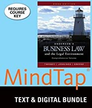 MindTap Business Law, 2 terms (12 months) Printed Access Card for Anderson's Business Law & Legal Environment - Comprehensive Edition, 23rd