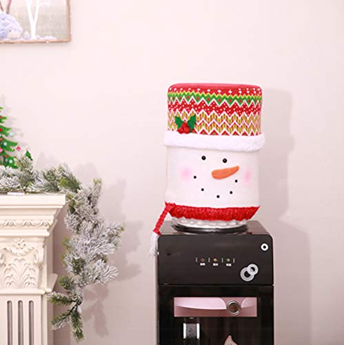 Lemoning Home Decor for Living Room, Christmas Dust Cover Water Bucket Dispenser Container Bottle Purifier Xmas Decor