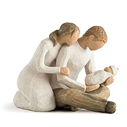 Sentiment: Celebrating the miracle of new life written on enclosure card 5 Inch hand-painted resin figure; ready to display on a shelf, table or mantel; to clean, dust with soft brush or cloth A gift to celebrate new beginnings, new babies, new famil...