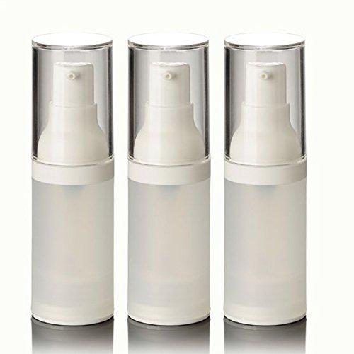 Dealglad 3pcs AS airless Bottle Frosted/Matte Vacuum Pump Bottle Lotion Bottle Used for Travel Refillable Bottles (20ml)