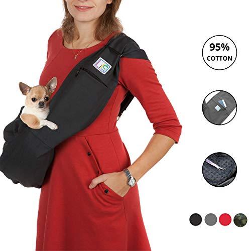 LileTink - Mochila para Transportar Mascotas, para Perros pequeños, Correa Ajustable, tamaño M 2,5-7 kg