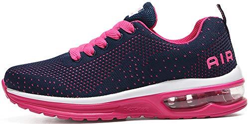 tqgold Herren Damen Sportschuhe Laufschuhe Bequem Atmungsaktives Turnschuhe Sneakers Gym Fitness Leichte Schuhe Rosa Größe