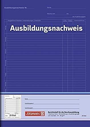 Brunnen 104257001 Berichtsheft Ausbildung/Ausbildungsnachweisheft (A4, 28 Blatt, 1 Woche je Seite) (5)