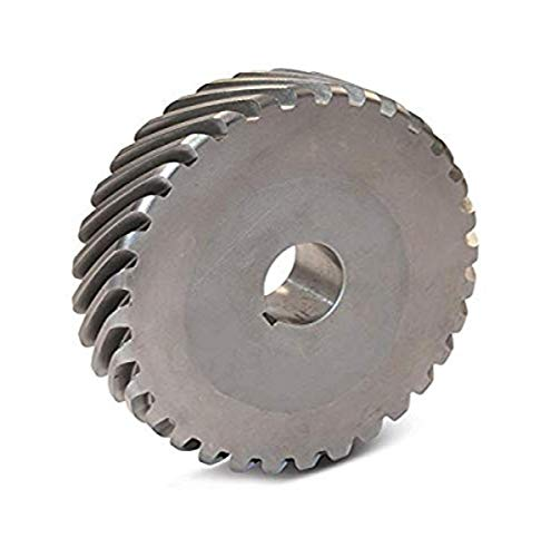 Boston Gear H1624L Plain Helical Gear, 45 Degree Helix, 14.5 Degree Pressure Angle, 0.500 Bore, 16 Pitch, 24 Teeth, Steel, LH