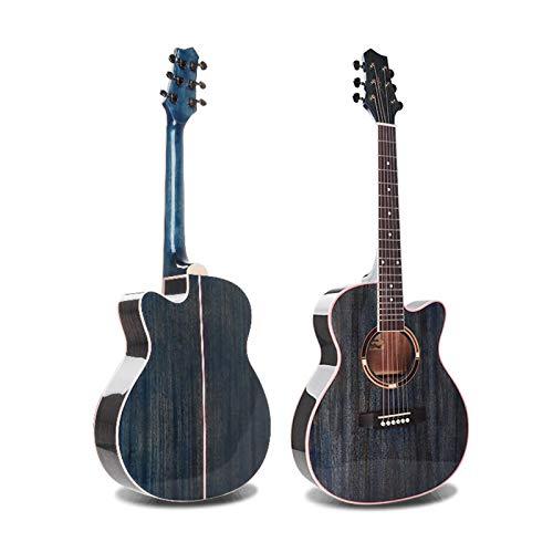 KEPOHK Guitarra acústica brillante vintage con cepillo de 36 pulgadas para profesionales principiantes 36 pulgadas TBL