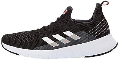 adidas Men's ASWEEGO Running Shoe, Black/White/Solar red, 9.5 M US