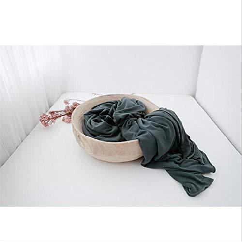 LINGZIA Super Bequeme Neugeborenen Stretch Wrap Swaddle Baby Fotografie Decken dunkelgrün