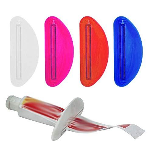 Lankater - Tubo de pasta de dientes Squeezer dispensador, clip de plástico dentífrico para el...